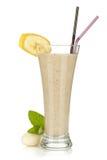 Smoothie de la leche del plátano Foto de archivo libre de regalías