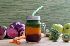 Smoothie de las frutas y verduras Foto de archivo libre de regalías
