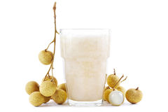 Smoothie de Longan Images libres de droits