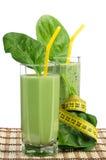 Smoothie degli spinaci Fotografie Stock Libere da Diritti
