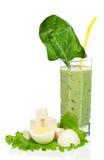 Smoothie degli spinaci immagine stock