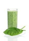 Smoothie degli spinaci Fotografia Stock Libera da Diritti