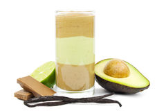 Smoothie del chocolate del aguacate Foto de archivo