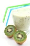 Smoothie del kiwi Imagen de archivo libre de regalías