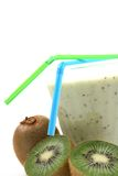 Smoothie del Kiwi fotografia stock