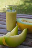 Smoothie del melón Imagen de archivo libre de regalías