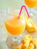Smoothie del melone Fotografie Stock Libere da Diritti