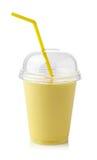 Smoothie del plátano Foto de archivo libre de regalías