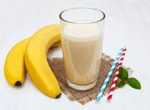 Smoothie del plátano Fotos de archivo
