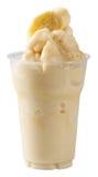 Smoothie del plátano de la leche Fotografía de archivo