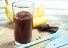 Smoothie del plátano del chocolate Imagen de archivo