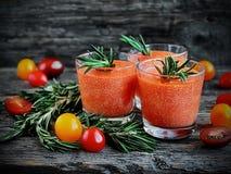 Smoothie del tomate con requesón Imagen de archivo libre de regalías