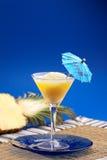 Smoothie dell'ananas immagini stock libere da diritti