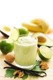 Smoothie dell'avocado Fotografia Stock Libera da Diritti