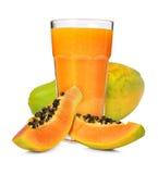 Smoothie della papaia fotografia stock