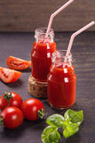 Smoothie des tomates Images stock