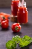 Smoothie des tomates Photographie stock