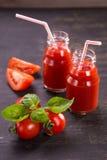 Smoothie des tomates Photos stock