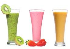 Smoothie diferente com frutas e bagas Imagem de Stock