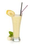Smoothie do leite da banana foto de stock