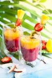 Smoothie exotique de fruit photo stock