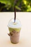 Smoothie för grön tea Arkivfoto