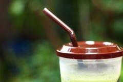 Smoothie för med is grönt te eller för grönt te Fotografering för Bildbyråer