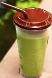 Smoothie för med is grönt te eller för grönt te Royaltyfria Foton