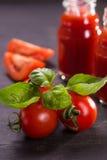 Smoothie från tomater Fotografering för Bildbyråer