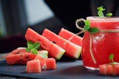 Smoothie frais délicieux de pastèque Photographie stock