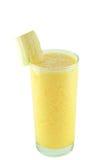 Smoothie fresco del plátano Imagen de archivo