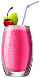 Smoothie with fresh cherry in glass Stock Image