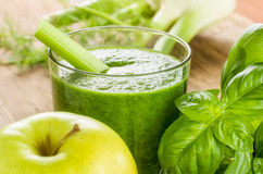 Smoothie with fresh ingredients Royalty Free Stock Image