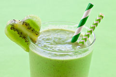 Smoothie with fresh kiwi Stock Photo