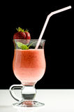 Smoothie with fresh strawberry Royalty Free Stock Image