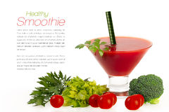 Smoothie with Fresh Vegatables. Healthy Eating and Diet Concept Royalty Free Stock Photo