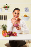 Smoothie fruit drink health delicious sip weight loss diet Royalty Free Stock Images