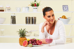 Smoothie fruit drink health delicious sip weight loss diet Royalty Free Stock Photo