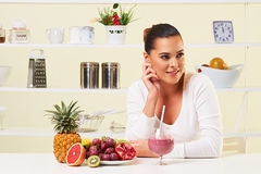 Smoothie fruit drink health delicious sip weight loss diet Stock Image