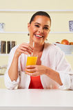 Smoothie fruit drink health delicious sip weight loss diet orang Stock Image