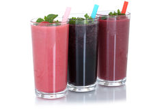 Smoothie fruit juice milkshake with fruits isolated Stock Image