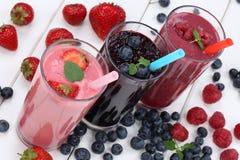 Smoothie fruit juice milkshake with fruits stock photo