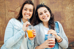Smoothie girls Royalty Free Stock Image