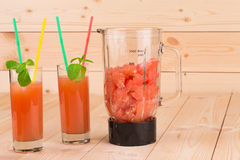 Smoothie of grapefruit. Royalty Free Stock Images