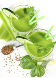 Smoothie from green vegetables Royalty Free Stock Image