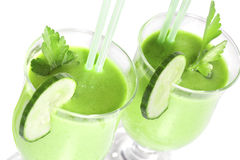 Smoothie from green vegetables Stock Images