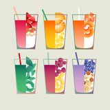 Smoothie. Healthy fruit and vegetable smoothies. File contains transparent objects.10 EPS Royalty Free Stock Image