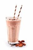 Smoothie helado de la haba de vainilla del cacao Fotografía de archivo