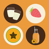 Smoothie icons design Stock Photography