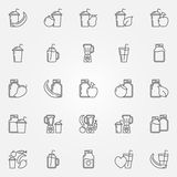Smoothie icons vector set Royalty Free Stock Photography